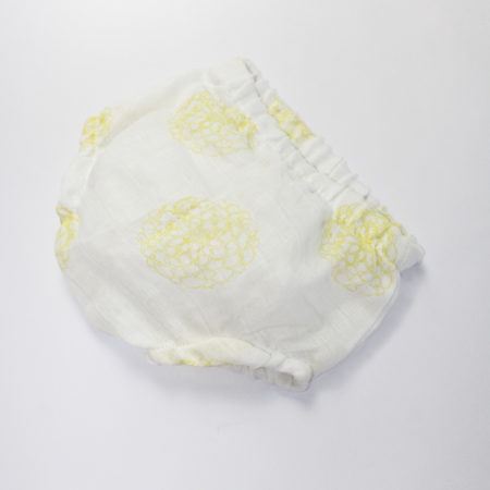 Bloomer Henri pivoines jaune lange coton bio made in France - Lebôme