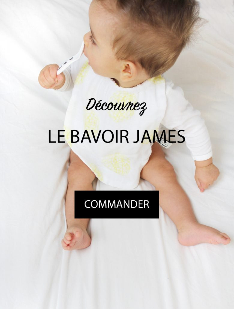 Bavoir James bébé lange coton bio made in france marque lebome