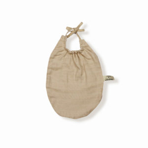 James bavoir beige coton bio bébé enfant newborn made in france organic cotton - Lebôme