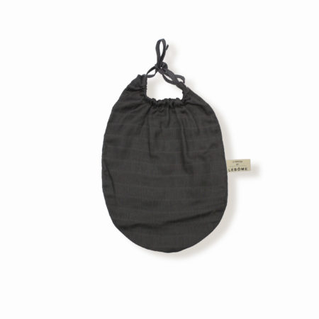 James bavoir gris anthracite coton bio bébé enfant newborn made in france organic cotton - Lebôme