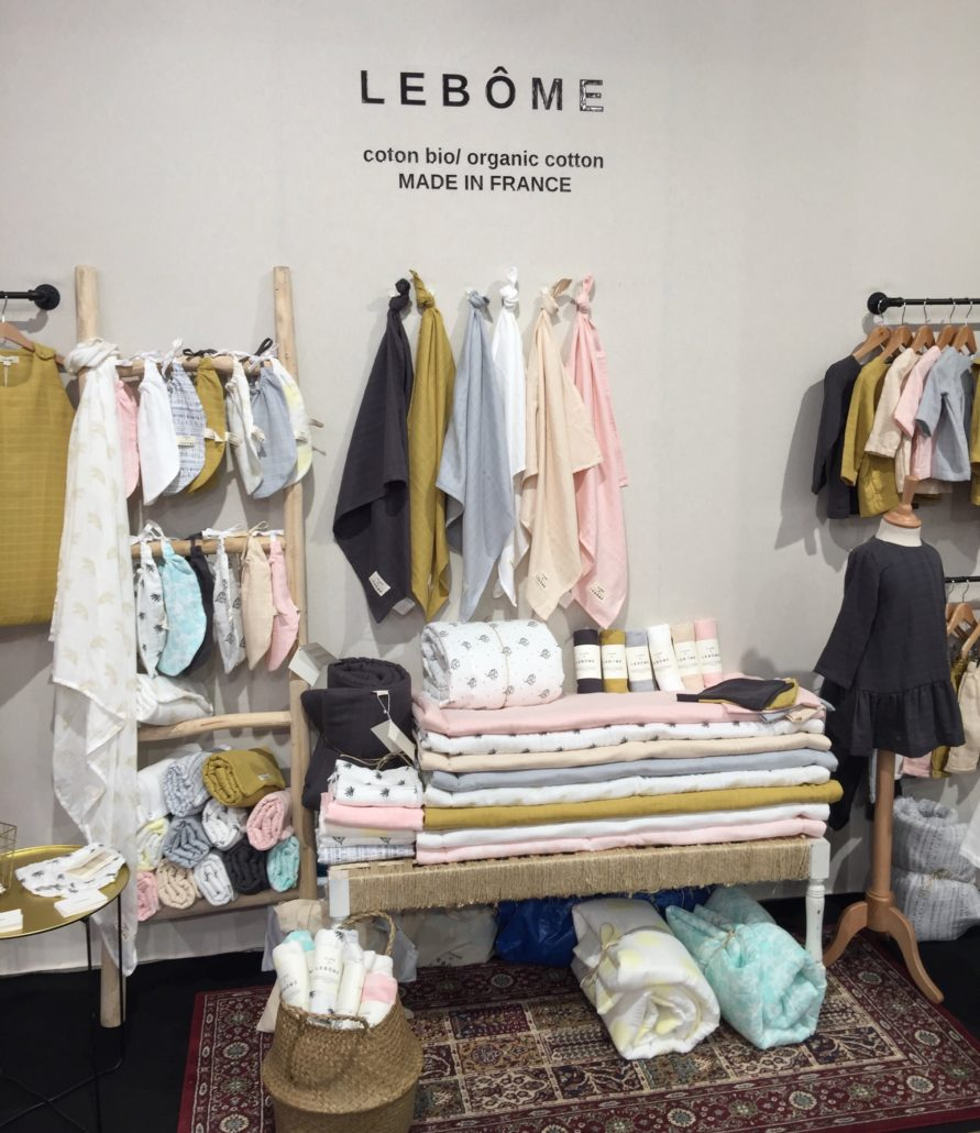 Lebôme Playtime paris salon professionel coton bio prganic cotton made in France bébé enfant