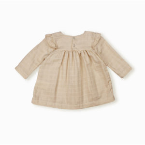 Blouse Ivy beige coton bio organic cotton bébé enfant kids ethique lange swaddle sustainable made in France fabrication française -Lebôme