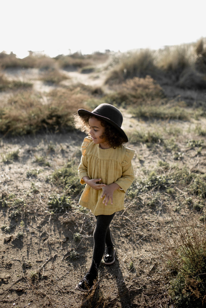 Blouse-Ivy-moutarde-vetements-coton-bio-organic-cotton-bébé-enfant-kids-Lebôme