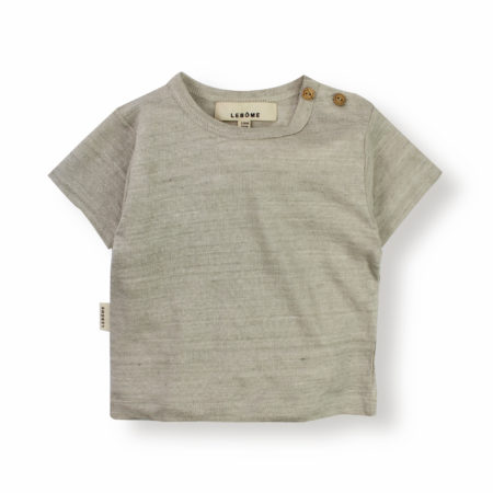 Lebôme- T-shirt lin beige enfant bébé léger naturel habits vêtements dressing responsable été printemps spring summer collection ecofriendly mode fashion kids marque française éthique - Lebôme