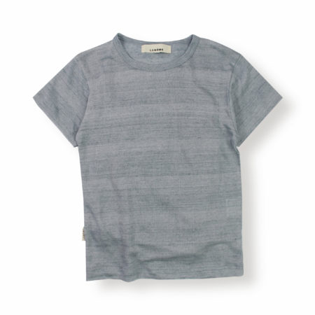 Lebôme- T-shirt lin bleu clair enfant bébé tout doux agréable léger naturel habits vêtements dressing responsable été printemps spring summer collection marque française ecofriendly éthique - Lebôme
